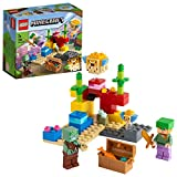 LEGO21164MinecraftElArrecifedeCoralSetdeConstrucciónconAlex,PezGlobode2LadrillosyZombieAhogado
