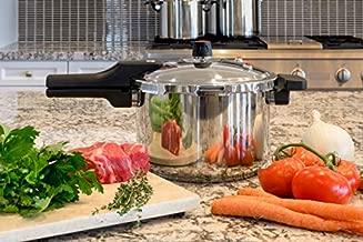 Barton 7.4-Quart Pressure Cooker Stovetop Pot Pressure Regulator Fast Cooking Steam Release Valve, Stainless Steel