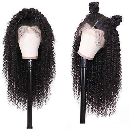Preisvergleich Produktbild Ur Beautiful 8A Curly Lace Front Wigs Human Hair 13x4 Kinky Curly Human Hair Wig Pre-Plucked With Baby Hair 150% Density Brazilian Hair Wig curly wig Echte Haare Peruecke Lockig Natural Color 20 Zoll