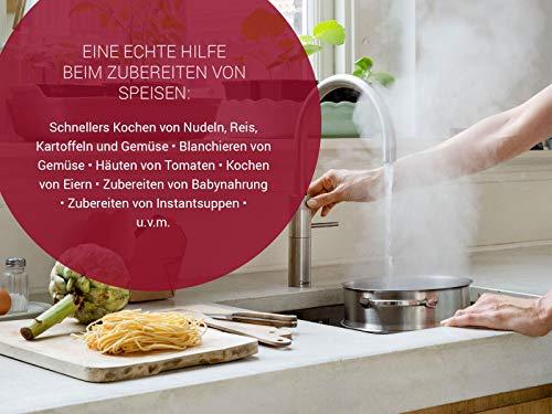 Quooker COMBI+ 2.2 Fusion Square Kochendwasserhahn / Kochendwasser-Armatur & Mischbatterie / verchromt glänzend CHR - 7