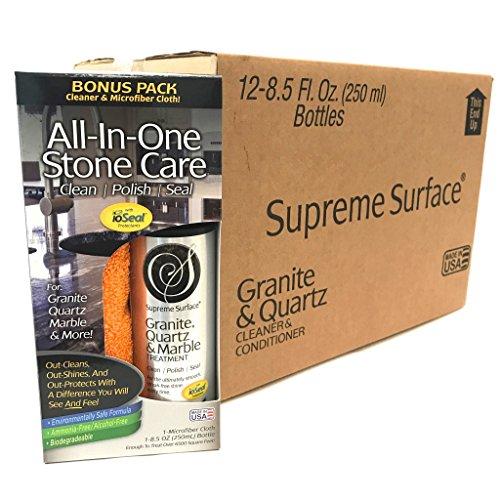 Supreme Surface Granite, Quartz & Marble Treatment (8 fl oz Bonus Pack Case (12 Units))