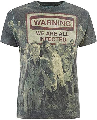 The Walking Dead - Warning - Uomo Ufficiale T-Shirt