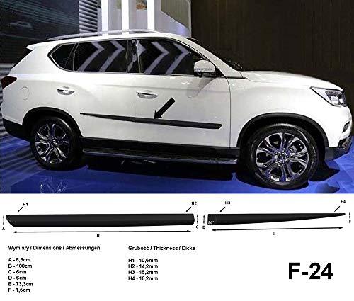 mächtig SsangYong Rexton W II Schwarzes Seitenschutzband der 2. Generation, Modelljahr März 2017 – F24 (370002404)