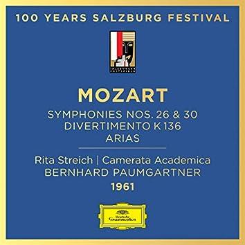 Mozart: Symphony Nos. 26 & 30; Divertimento, K. 136; Arias