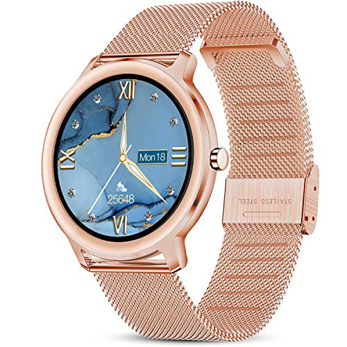 LIGE Smartwatch, Reloj Inteligente Mujer, Resistente al Agua IP67, con Pantalla Táctil Completa de 1,1