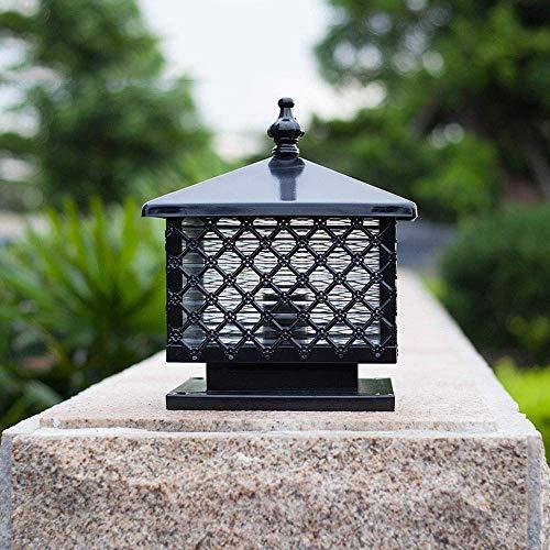 Beautiful Home Decoration lampen zuil buitenlamp zwart licht E27 bolard lampen van metaal buitenglas waterdicht Fence gazon verlichting Yard tuin Patio Bollard deur stopcontact