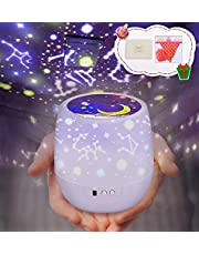 Leefeng ベッドサイドランプ スタープロジェクター プラネタリウム 常夜灯 星空ライト 家庭用 ロマンチック雰囲気作り 星空投影 5セット投影映画 多色変更可能 3階段モード 360度回転 USB充電式 電池兼用 プレゼント 誕生日 祝日ギフト 日本語説明書 ペナント メッセージカード付け