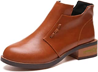 LaBiTi Women's Avery Low-Heel Ankle Booties Boots Casual Boot