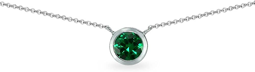 Ranking TOP14 Sterling Silver Genuine or Synthetic Ranking TOP2 Solitair Gemstone Round 6mm