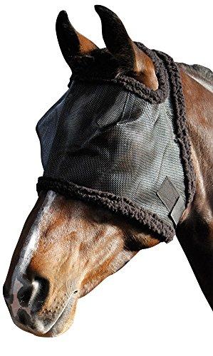 Harry's Horse 31300002-l Fliegenschutzmaske Ohne Ohren, L, schwarz