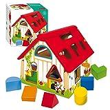 Goula- Shape Sorter Farm Granja con Formas geométricas, Multicolor, 12m+ (Diset 55220)