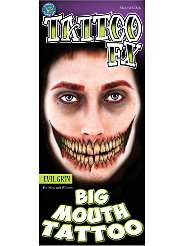 Tinsley Transfers Evil Grin Big Mouth Tattoo FX