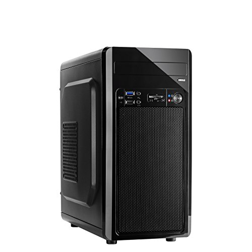 INTER-TECH MC-02 o. PSU Micro-ATX 1x 5,25 bis zu 3X 2,5 bis zu 2X 3,5 je 1x USB 2.0/3.0 inkl Cardreader