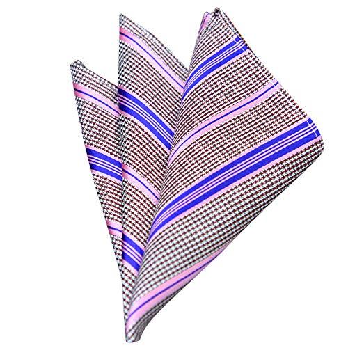 TUDUZ Retro Herren Anzug Einstecktuch Taschentücher für Hochzeit, Business, Party, Mehrere Farben und Muster, Geschenk Muss(A)