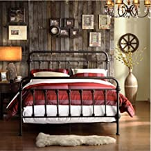 Giselle Antique Dark Bronze Graceful Lines Victorian Iron Metal Bed (Full Size)