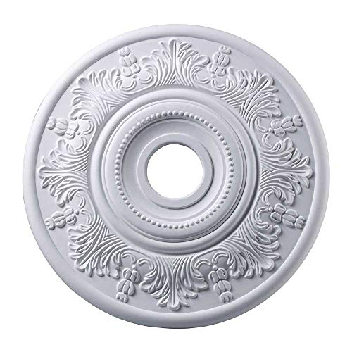 Elk M1004WH Laureldale Ceiling Medallion, 21-Inch, White Finish