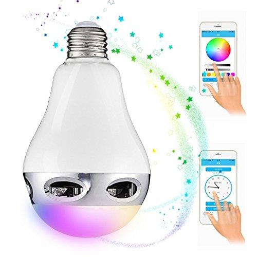 LED-lampen, E27, intelligente, draadloze bluetooth-luidspreker met app voor wekker, automatische schakelaar, muziek-effect en multimode-lichteffect Ecc.