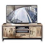 Stella Trading Prato TV-Board in Alpine Lodge Optik - ausdrucksstarkes Low-Board für Ihr Wohnzimmer - 155 x 61 x 45 cm (B/H/T)