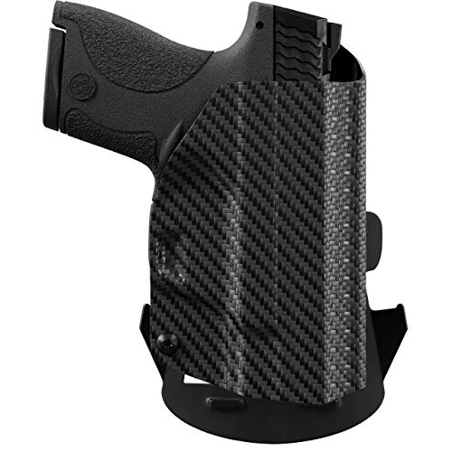 We The People Holsters - Carbon Fiber - Right Hand Outside Waistband Concealed Carry Kydex OWB Holster Compatible with Glock 19/19X 23 32 45 Gen 3-4-5 w/Streamlight TLR-7 Light