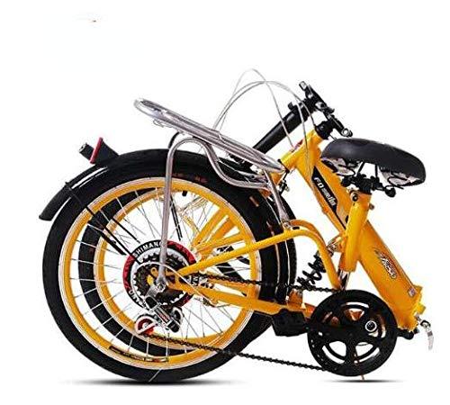 LQ&XL20 Pulgadas Plegable De Aluminio Bicicleta De Paseo Mujer Bici Plegable Adulto...