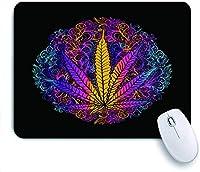 ECOMAOMI 可愛いマウスパッド シート大麻葉マリファナハーブ雑草ガンジャ違法麻薬違法薬物創造性の象徴 滑り止めゴムバッキングマウスパッドノートブックコンピュータマウスマット