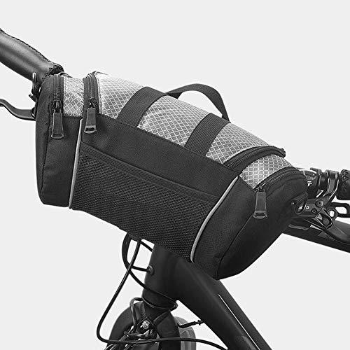 Roswheel Anteriore della Bici del Sacchetto del Tubo Superiore, Manubrio in Bicicletta Valigia Attrezzi della Bicicletta di Sport Esterni Pannier Spalla della Borsa (Colori) Grigio Argento