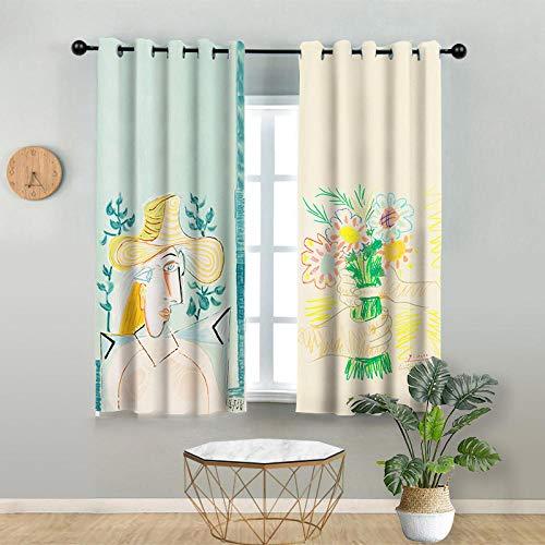 cortinas flores amarillas