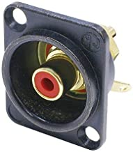 NEUTRIK NF2D-B-2 CONNECTOR, RCA/PHONO, JACK, 1POS (1 piece)