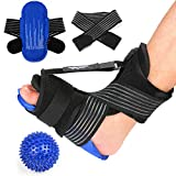 Supregear Plantar Fasciitis Night Splint, Adjustable Breathable Plantar Brace with Spiky Massage Ball and Reusable Hot Cold Gel Pack, Achilles Tendonitis, Foot Drop, Heel Ankle Arch Foot Pain