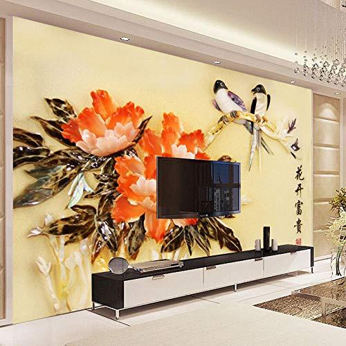Pbbzl Tv Backdrop Stereoscopische 3D Relief Naadloos Behang Aangepaste Nieuwe Huizen Milieuvriendelijk Grote muurschildering 150x120cm
