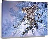 JRLDMD Laminas para Cuadros Póster de Leopardo de Animales Salvajes Cuadros Decoraciones de Pared impresión en Lienzo Pintura artística Ilustraciones horizontales50x70cm x1 Sin Marco