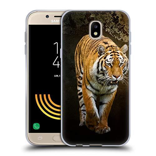 Head Case Designs Oficial Simone Gatterwe Tigre Siberiano Animales Carcasa de Gel de Silicona Compatible con Samsung Galaxy J5 (2017)