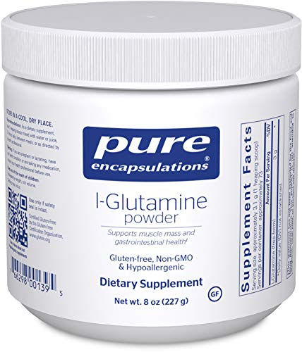 Pure Encapsulations l-Glutamine Powder | Supplement for Immune and Digestive Support, Gut Health and Lining Repair, Metabolism Boost, and Muscle Support* | 8 Ounces
