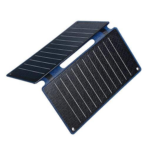 Bangxiu Leichtgewicht Solarpanel Tragbares 25W USB ETFE Sunpower Faltbare Sonnenkollektor Outdoor-Camping-Energien-Bank-Ladegerät (Farbe : Schwarz, Größe : 50W)