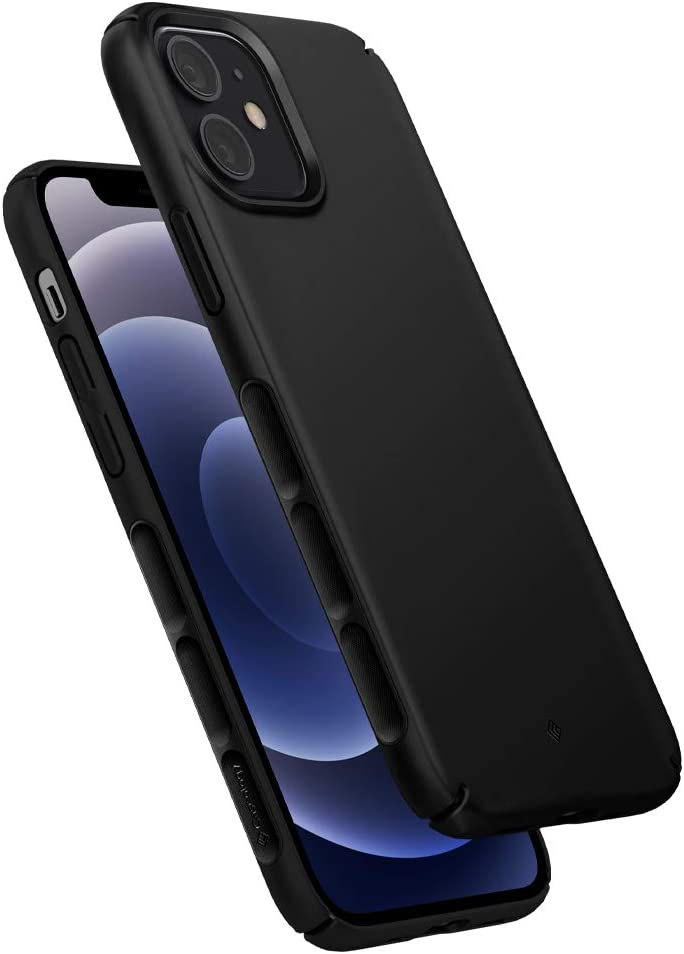 Caseology Dual Grip Compatible with iPhone 12 Pro Case Compatible with iPhone 12 Case (2020) - Black