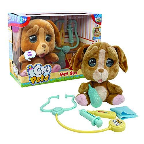 Emotion Pets Cry Pets Veterinario Set Deluxe Peluche Interattivo, 22 cm, MTC01000