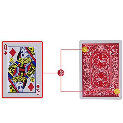 Shinena Marked Deck Magic Stripper Deck Trick Magic Tricks Props, Playing Cards Poker Cards Magic Toys Party Table Games. Easy Magic Trick for Magician