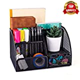 Smart Saver Office Desk Organizer with 6 Compartments + Drawer | The Mesh