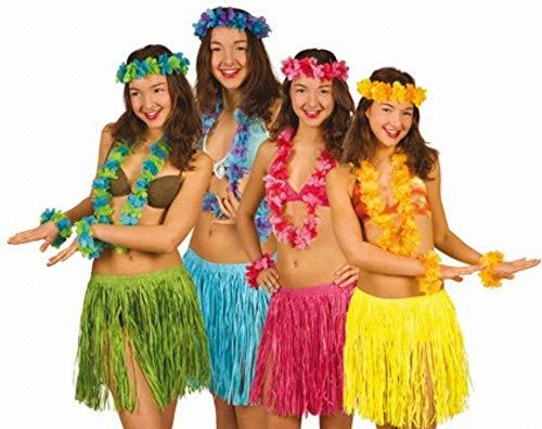 Boland 52426 Set Hawaii Beach Fransenrock, Blütenkette sowie Armbänder, sortiert