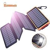 Oxsaytee Batterie Externe 25000mAh Power Bank Solaire, Chargeur Solaire avec 2...