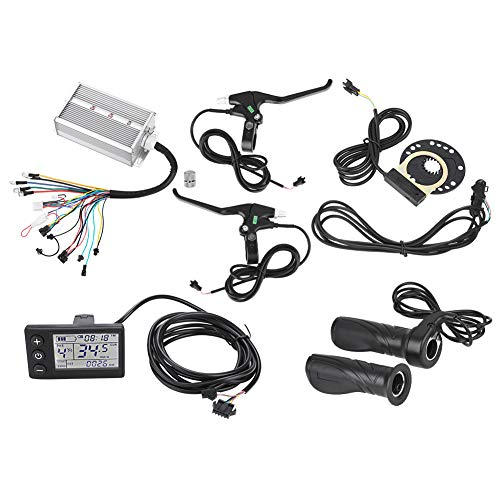 Demeras E-Bike-Controller-Kit 36V/48V 1500W Motorsteuerung LCD-Panel Bremsgeschwindigkeit Drosselklappen-Geschwindigkeitssensor-Sensor für E-Bike-Elektroroller