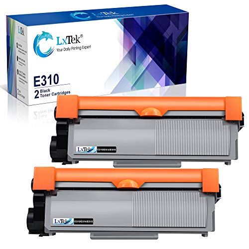 LxTek Compatible Toner Cartridge Replacement for DELL E310dw P7RMX PVTHG 593-BBKD E310 E514 E515 to Use with Wireless Monochrome E310dw E515dw E514dw E515dn Printer(2 Black, High Yield 2600 Pages)