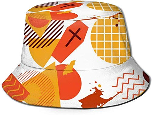 Halloween(34) Mens Womens Trends Fashion Bucket Hat Hello Halloween Hello Kitty