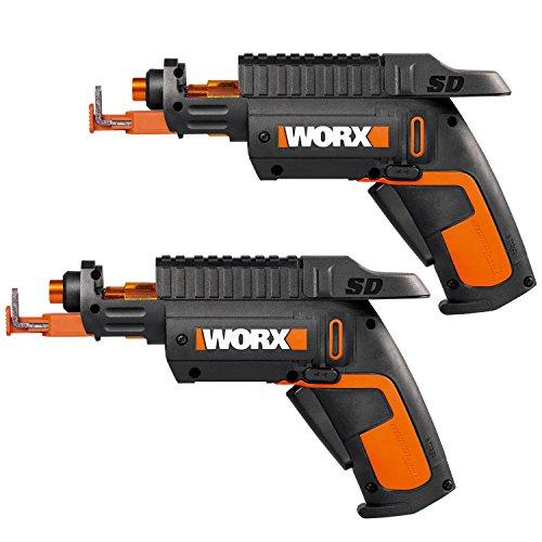 WORX WO7035 2-Pack of WX255L SD Semi-Automatic Cordless Screw Drivers, Black/Orange