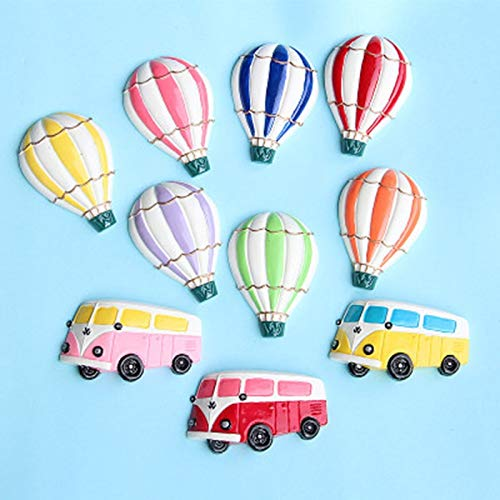 PMSMT Kawaii Bus Heißluftballon Flatback Harz Cabochons Scrapbooking Verschönerung Handwerk DIY Wand Kühlschrank Aufkleber Zubehör 1 Stck