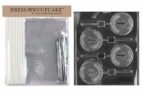 My Cupcake e instrucciones para hacer vestidos DMCKITB033 Chocolate Candy se envía en una caja con forma de helado para manualidades con, para jugar en la bañera, bebé bautizo Lollipop