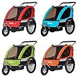 Tiggo Kinderanhänger 2 in 1 Fahrradanhänger Anhänger Buggy/Jogger Set BT504 (Grün)