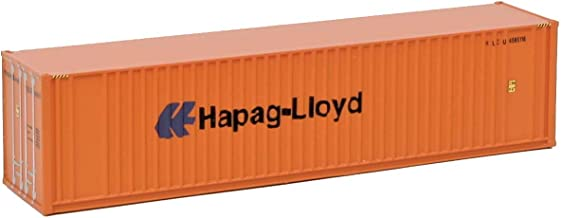 Walthers SceneMaster HO Scale Model of  Hapag Lloyd 40' Hi Cube Ribbed Side Container