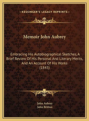 Memoir John Aubrey