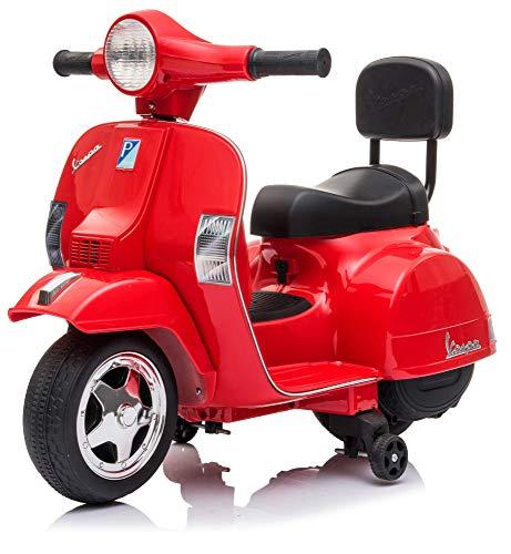 giordano shop Piaggio Mini Vespa PX150 Elettrica 6V per Bambini Rossa